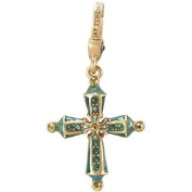 Jay Strongwater Birthstone Cross Charm-May