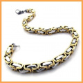 K Mega Jewellery Chain Gold Stainless Steel Mens Bracelet 21.1cm