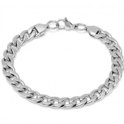 Men's Stainless Steel Chain Link Bracelet 21.6cm