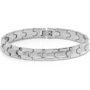 Mens Solid Stainless Steel Solid Chain Link Bracelet 21cm