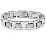 Men's Heavy Solid Stainless Steel Chain Link Bracelet 21.6cm