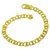 18 Karat Gold over Sterling Silver Men's Mariner Link Bracelet