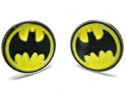 Batman Cufflinks : Yellow Circle Logo