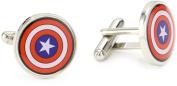 Marvel Comics Capt America Multi-Coloured Men's Cuff Links