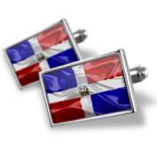 "Neonblond Cufflinks ""Dominican Republic 3D Flag"" - cuff links for man"
