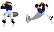 Baseball Pitcher & Batter Cufflinks by Cracked Pepper