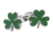 Green 3 Leaf Clover Cufflinks
