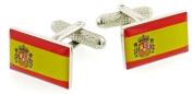 Spanish Flag Cufflinks with presentation box