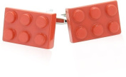 Red Building Block Cufflinks by Cracked Pepper