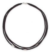Silver accent choker, 'Hill Tribe Friend'