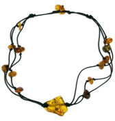 Cognac Amber Necklace, Baltic Amber-Toffee Amber Necklace