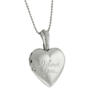 Stunning Heart Shape With I Love You Engraved Locket Pendant With 71.1cm Chain
