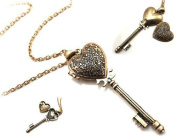 Victorian Romance Key to My Heart Locket Necklace