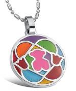Brand New Titanium Pendant Necklace Teddy Bear Creative . Korean Style in a Gift Box