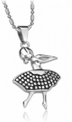 Brand New Titanium Pendant Necklace Ballet Lady Creative . Korean Style in a Gift Box