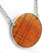 """Necklace of 'french touch' """"Nora"""" orange."""