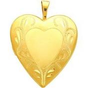 14K Gold Filled Heart Locket Pendant Jewellery 26mm