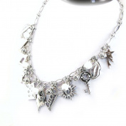 """Necklace 'french touch' """"Gypsy"""" white."""
