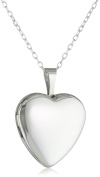 Momento Lockets Sterling Silver Heart Shaped Locket Necklace