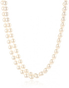 """Cream 8mm Simulated Pearl Strand Necklace, 60"""""""