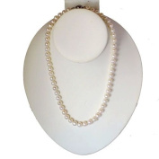 """White Freshwater Cultured AA Quality Pearl Necklace (6.5-7mm), 18"""""""