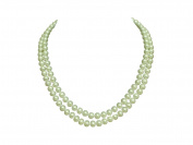 "AAA Genuine Multi Double Strand 7mm White Pearl Necklace 18"" Cultured Freshwater"