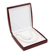 AAA 7.5-8mm White Freshwater Cultured Pearl Necklace 22in Elegant