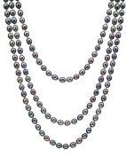 HinsonGayle Handpicked Ultra-Orient 8.0-8.5mm Multicoloured Black Cultured Pearl Rope Necklace