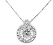 Satya Jewellery Silver Mandala Necklace