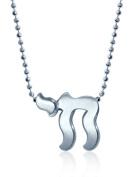 """Alex Woo """"Little Faith"""" Sterling Silver Chai Pendant Necklace, 40.6cm"""
