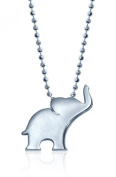 "Alex Woo ""Little Luck"" Sterling Silver Elephant Pendant Necklace, 40.6cm"