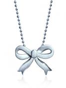 "Alex Woo ""Little Princess"" Sterling Silver Bow Pendant Necklace, 40.6cm"