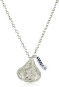 Hershey Jewellery Sterling Silver White Diamonds 0.12 cttw Medium Flat Back Pendant
