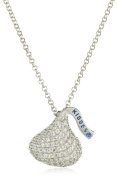 Hershey Jewellery Sterling Silver with CZ Medium Flat Back Shaped Pendant