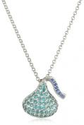 Hershey Jewellery Sterling Silver Cubic Zirconium Medium Flat Back December Pendant