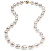 HinsonGayle Extreme Baroque Collection Premium AAA White Baroque Cultured Pearl Necklace