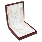 AAA 7.5-8mm White Freshwater Cultured Pearl Necklace 64in Rope