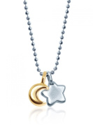 "Alex Woo ""Mini Additions"" Sterling Moon and 14k Gold Star Pendant Necklace"