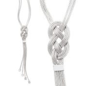 Sterling silver Italian infinity knot necklace, 45.7cm