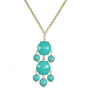 Beaded Bubble Pendant Necklace,Turquoise