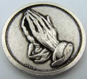 Catholic Medal Charm Prayer Pocket Token Serenity Courage Prayer Antiqued Silver