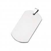 High Polished Stainless Steel Plain Engravable Dog Tag Pendant