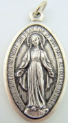 Oval Shaped Miraculous Virgin Mary Medal Silver Gilded Medal Pendant Charm