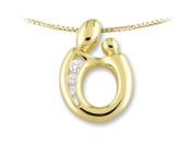 Large Mother and Child® Pendant by Janel Russell in 14 kt Yellow Gold