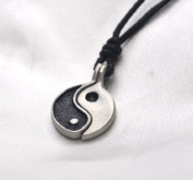 Necklace Pendant YING YANG Yin Yang Jewellery Pewter Silver Vietguild