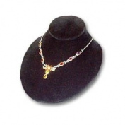 Bust Low Profile 10.2cm H Black Necklace Jewellery Display