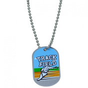 "Forgiven Jewellery - Track & Field Dog Tag Necklace ""I Can Do All Things Through Christ"""