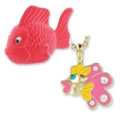 Enamel & Crystal Fish Pendant in Shaped Gift Box
