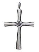 925 Sterling Silver Latin Cross Charm Pendant