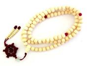 8mm 108 White Wood Beads Tibetan Buddhist Prayer Meditation Mala Necklace